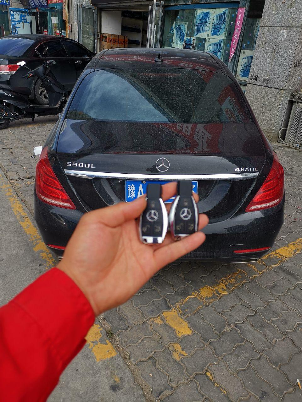 18款奔驰S500L匹配原装智能钥匙